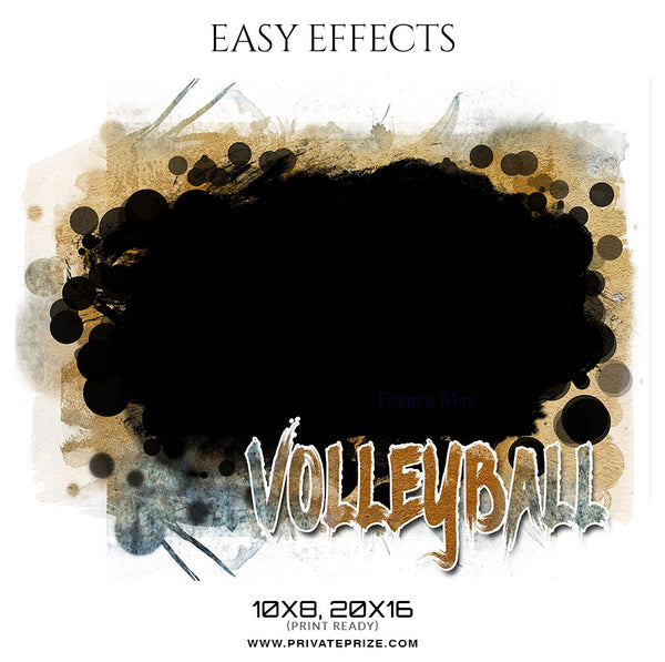 Farren Max - Volleyball Easy Effect Sports Photography Template - Photography Photoshop Template