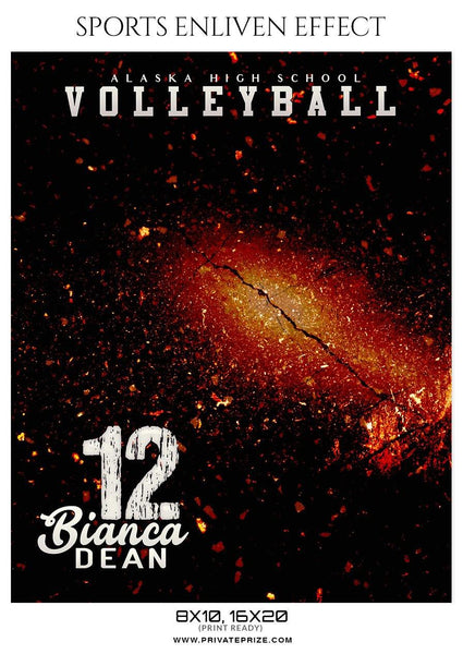 Bianca Dean - Volleyball Sports Enliven Effects Photography Template - Photography Photoshop Template