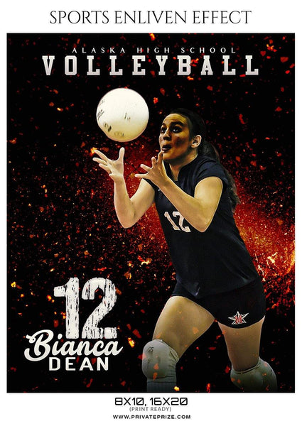 Bianca Dean - Volleyball Sports Enliven Effects Photography Template