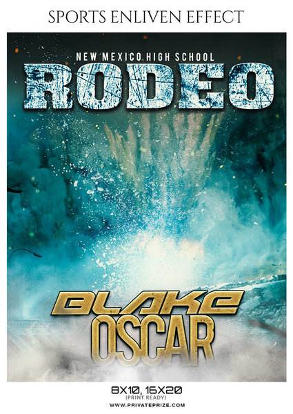 Blake Oscar Rodeo Sports Enliven Effects Photoshop Template - Photography Photoshop Template