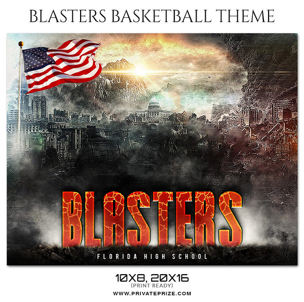 Blasters - Basketball Theme Sports Photography Template - Photography Photoshop Template