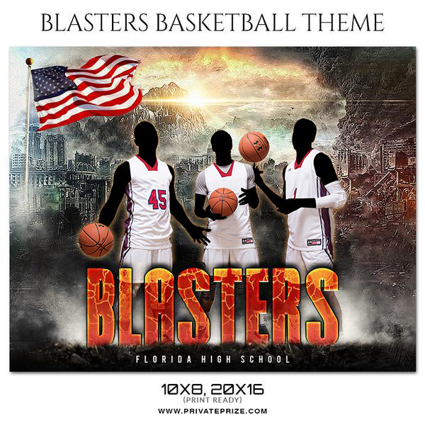 Blasters - Basketball Theme Sports Photography Template