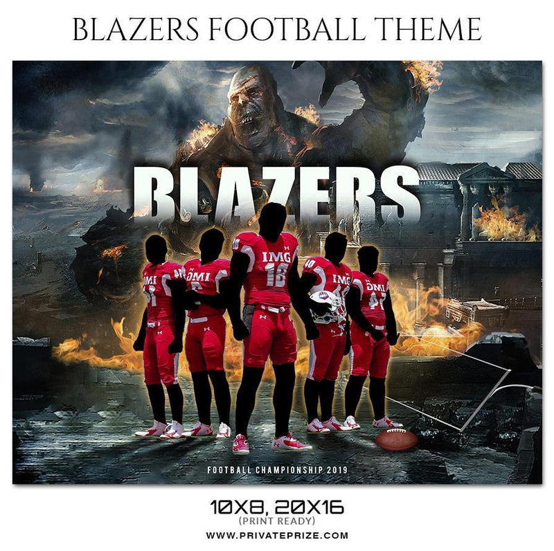 Blazers -  Football Themed Sports Photography Template