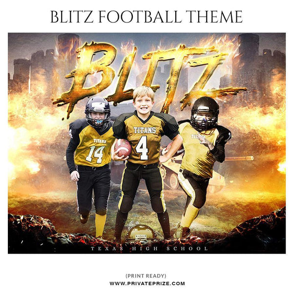 Blitz - Football Themed Sports Photography Template