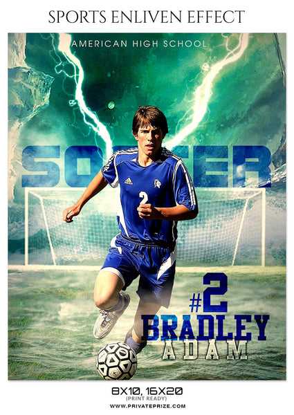 BRADLEY ADAM-SOCCER- SPORTS ENLIVEN EFFECT - Photography Photoshop Template