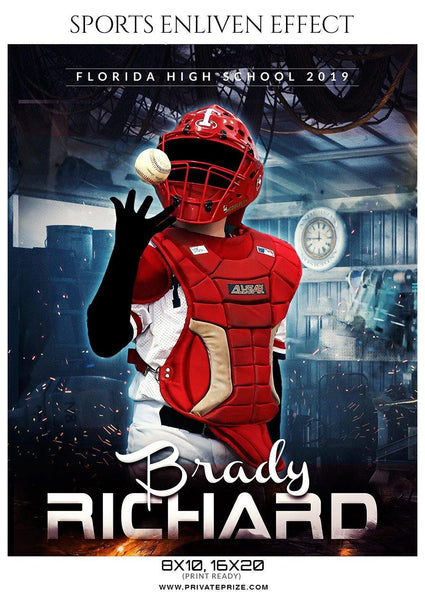 Brady Richard - Baseball Sports Enliven Effects Photography Template
