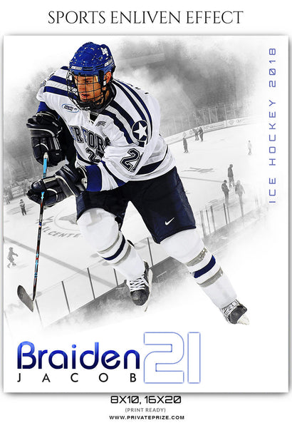 sports team photography templates - braiden jacob ice hockey sports enliven effects
