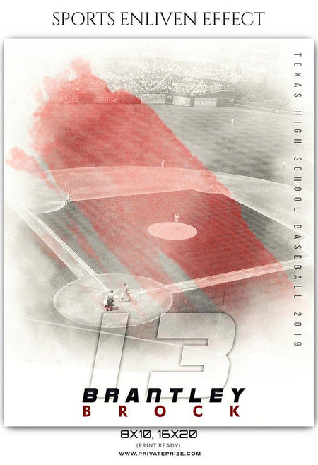 Brantley Brock - Baseball Sports Enliven Effects Photography Template - Photography Photoshop Template