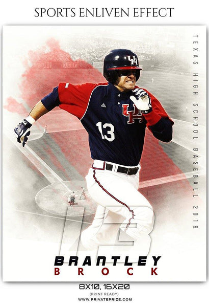 Brantley Brock - Baseball Sports Enliven Effects Photography Template