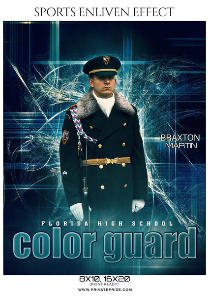 Braxton Martin - Color Guard Enliven Effects Photography Template