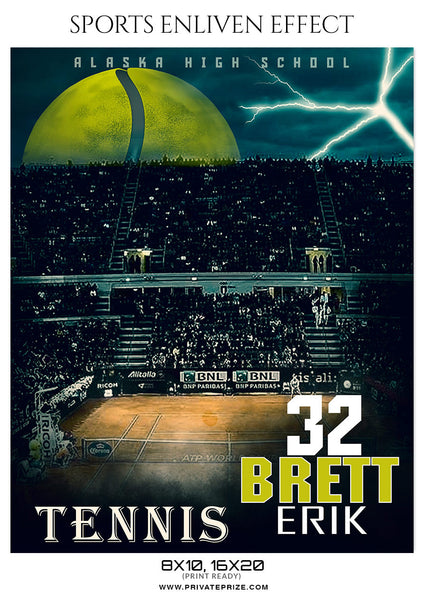 BREET ERIK TENNIS - SPORTS ENLIVEN EFFECT - Photography Photoshop Template