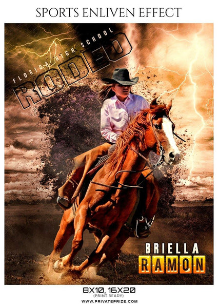 Briella Ramon - Rodeo Sports Enliven Effects Photography Templates - Photography Photoshop Template