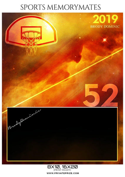 Brody Dominic - Basketball Memory Mate Photoshop Template