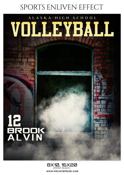 BROOK ALVIN-VOLLEYBALL- ENLIVEN EFFECT - Photography Photoshop Template