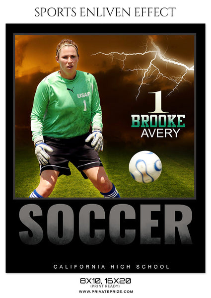 BROOKE AVERY-SOCCER- ENLIVEN EFFECT - Photography Photoshop Template