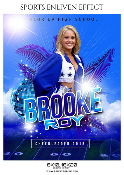 BROOKE ROY CHEERLEADER - SPORTS ENLIVEN EFFECT - Photography Photoshop Template