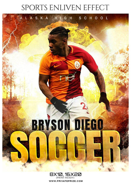 Bryson Diego - Soccer Sports Enliven Effects Photography Template