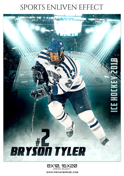 BRYSON TYLER-ICE-HOCKEY SPORTS ENLIVEN EFFECT - Photography Photoshop Template