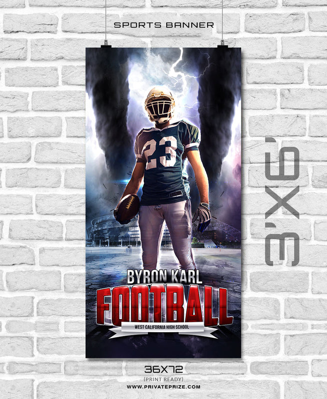 Byron Karl - Football Enliven Effects Sports Banner Photoshop Template - Photography Photoshop Template