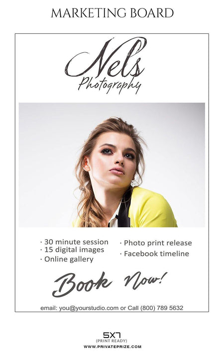 Senior Portrait - Mini Session Flyer Template for Photographers - Photography Photoshop Template
