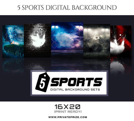 Sports Digital Background set - Photography Photoshop Template