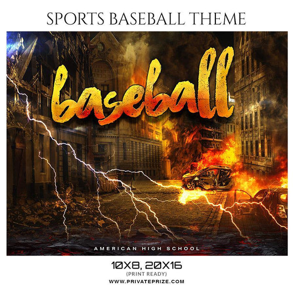 Baseball - Themed Sports Photography Template