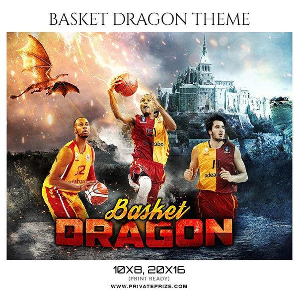 Basket Dragon - Basketball Themed Sports Photography Template