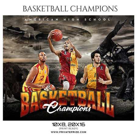 Basketball Champions - Theme Sports Photography Template