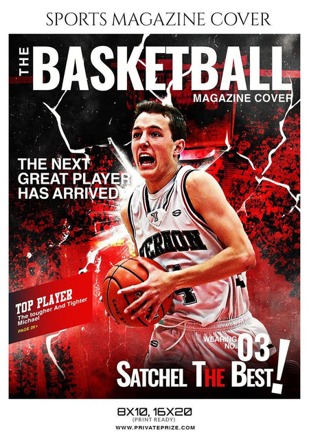Basketball Sports Photography Magazine Cover