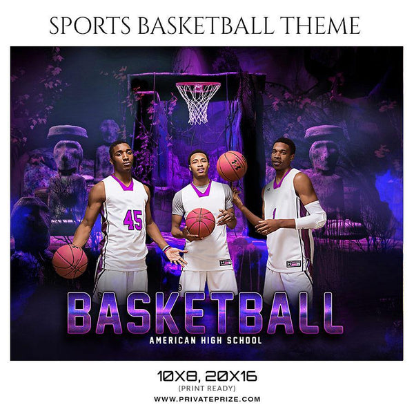 Basketball - Theme Sports Photography Template
