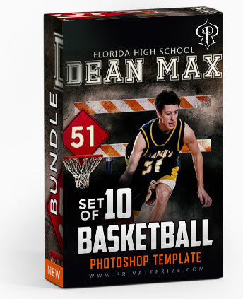 September Basketball Bundle Photography Photoshop Template - Photography Photoshop Template