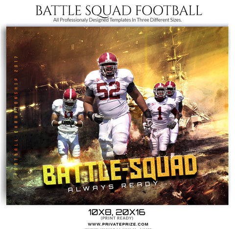 Battle squad Themed Sports Template - sports photography photoshop templates