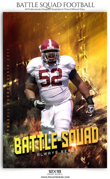 Battle squad Themed Sports Template - Photography Photoshop Templates