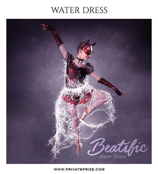Beatific - Water dress overlays and Brushes - Photography Photoshop Template