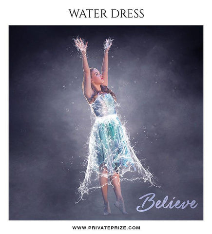 Believe - Water dress overlays and Brushes - Photography Photoshop Template