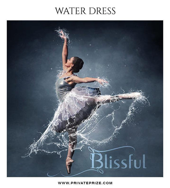 Blissful - Water dress overlays and Brushes - Photography Photoshop Template