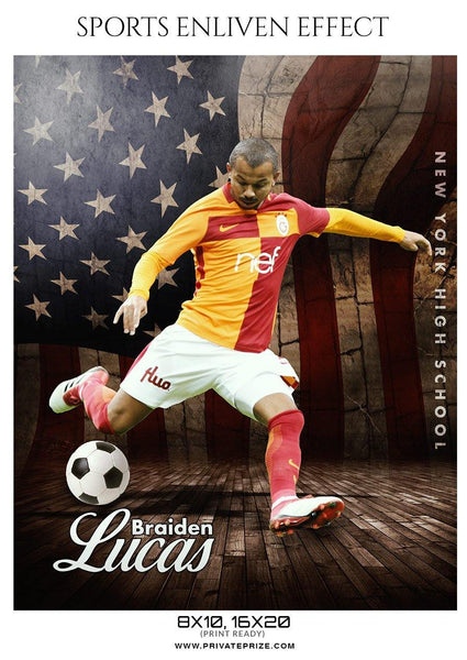 Braiden Lucas - Soccer Sports Enliven Effects Photography Template