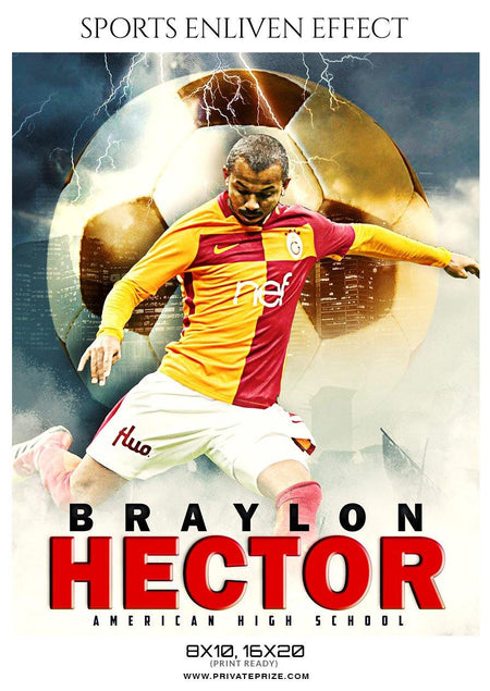 Braylon Hector - Soccer Sports Enliven Effect Photography Template