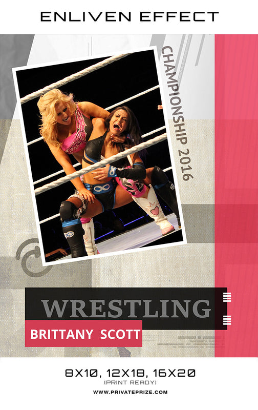 Brittany Wrestler - Enliven Effects - Photography Photoshop Templates