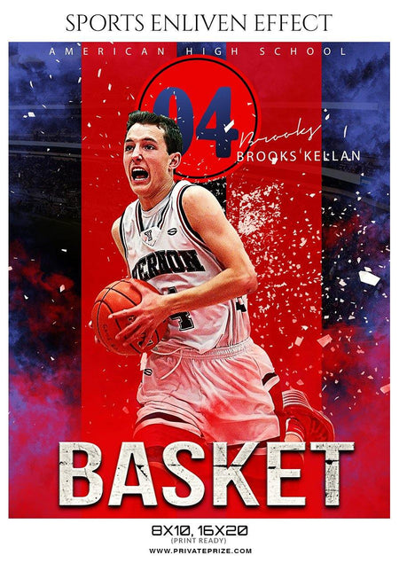 Brooks Kellan - Basketball Sports Enliven Effect Photography Template