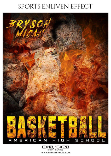 Bryson Micah - Basketball Sports Enliven Effect Photography Template