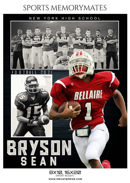 Bryson Sean - Football Memory Mate Photoshop Template