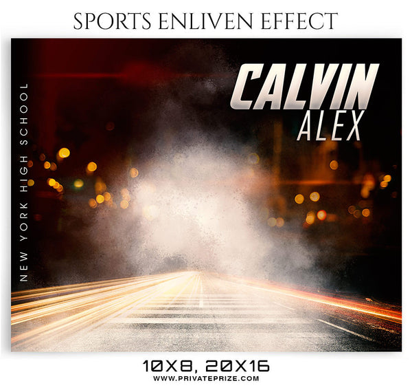 CALVIN ALEX-BASKETBALL- SPORTS ENLIVEN EFFECT - Photography Photoshop Template