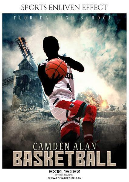 Camden Alan - Basketball Sports Enliven Effects Photography Template