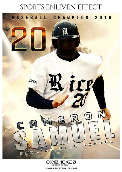 Cameron Samuel - Baseball Sports Enliven Effects Photography Template