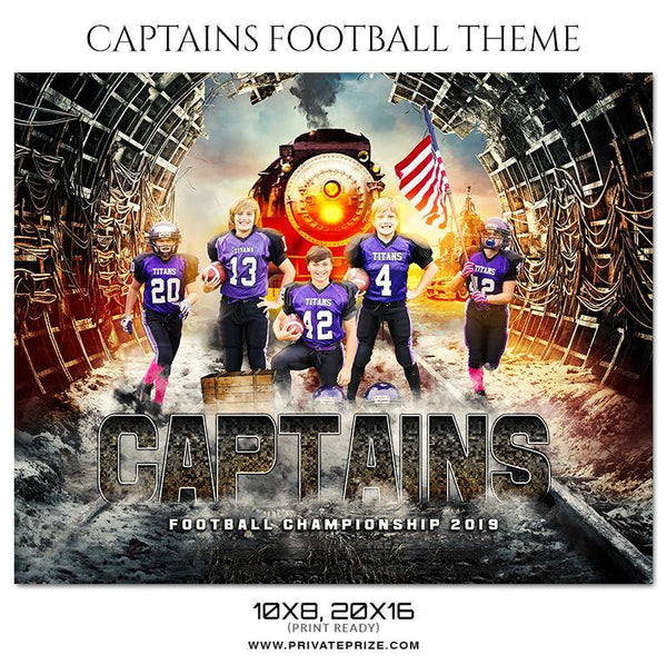 Captains - Football Themed Sports Photography Template