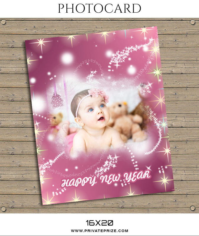 Bling Christmas-Photocard - Photography Photoshop Template