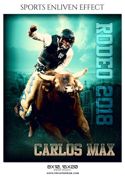 CARLOS MAX-RODEO SPORTS ENLIVEN EFFECT - Photography Photoshop Template