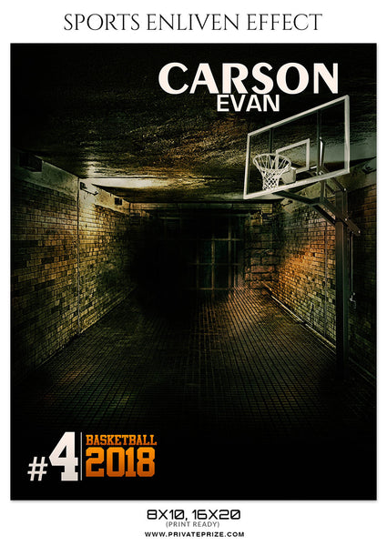 CARSON EVAN-BASKETBALL- SPORTS ENLIVEN EFFECT - Photography Photoshop Template