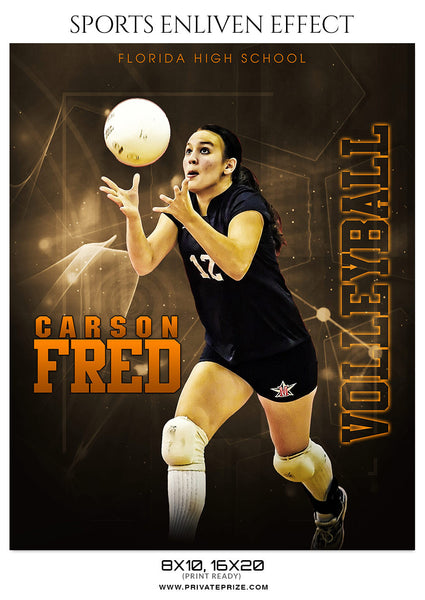 CARSON FRED-VOLLEYBALL - SPORTS ENLIVEN EFFECT - Photography Photoshop Template